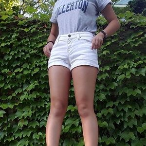 white bdg shorts